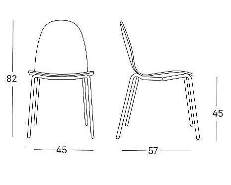 Silla cocina y comedorbob ondarreta pata metalica - Medidas silla ...